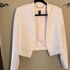 Off white structured blazer